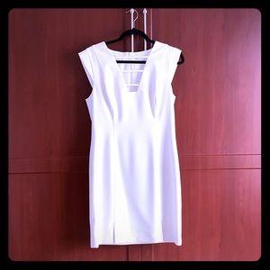 Stunning Black Halo dress in White - worn once